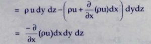 Derive continuity equation 2