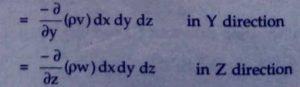 Derive continuity equation 3